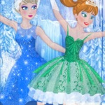 Elsa And Anna Ballet Dancer - Dance with Elsa and Anna at friv4